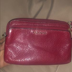 Coach burgundy wallet